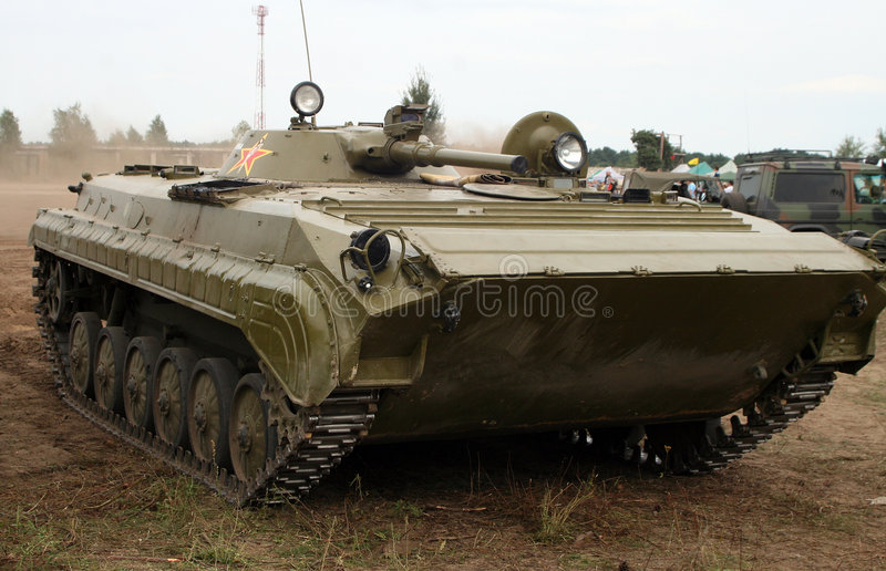BWP-2. BWP - 2, russian armoured personnel carrier stock image