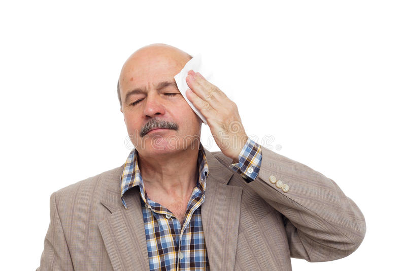 Być chory podczas upału obrazy stock