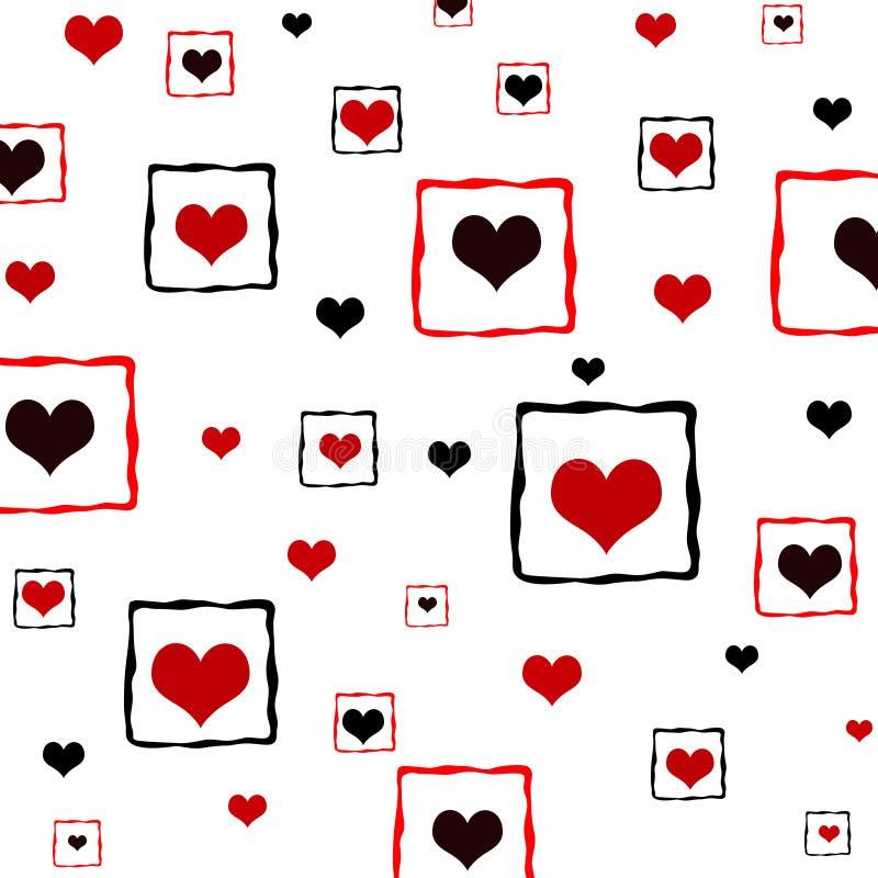 być obramowane serca ilustracja wektor