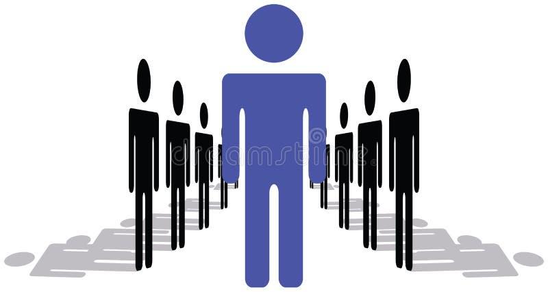 być przywódcą człowiek stoi na kobietą. royalty ilustracja
