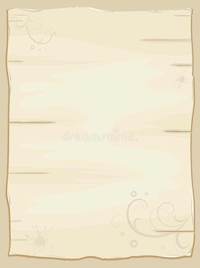 być ubranym stary papierowy kawałek royalty ilustracja