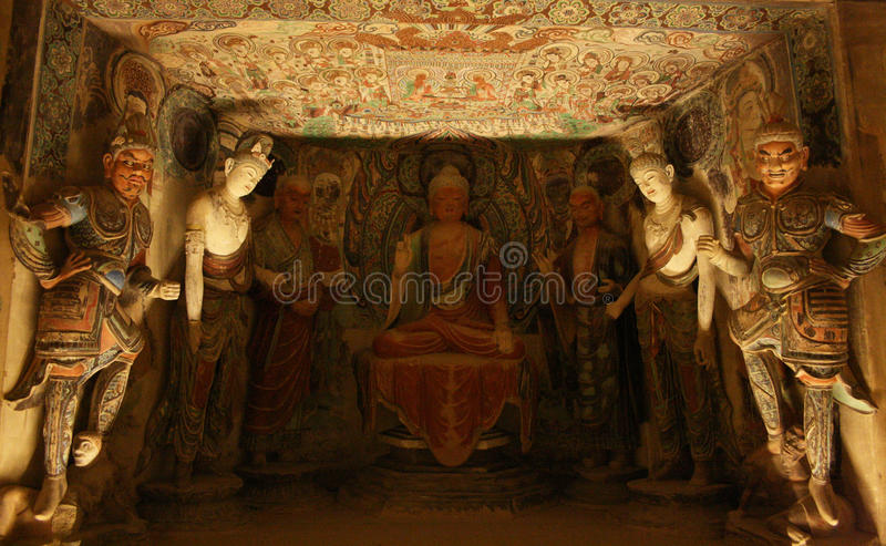 Buddyjska sztuka obrazy stock