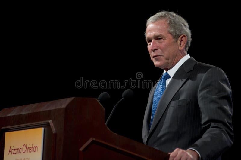 Były Prezydent George W. Bush fotografia stock