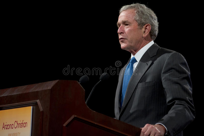 Były Prezydent George W. Bush obrazy stock