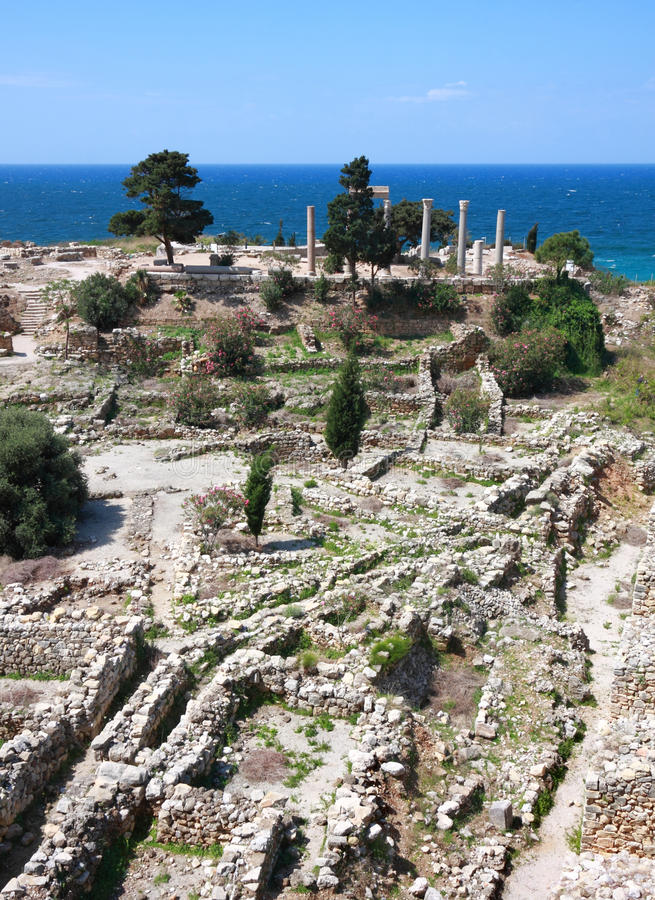Byblos Archeological Site, Lebanon royalty free stock photo