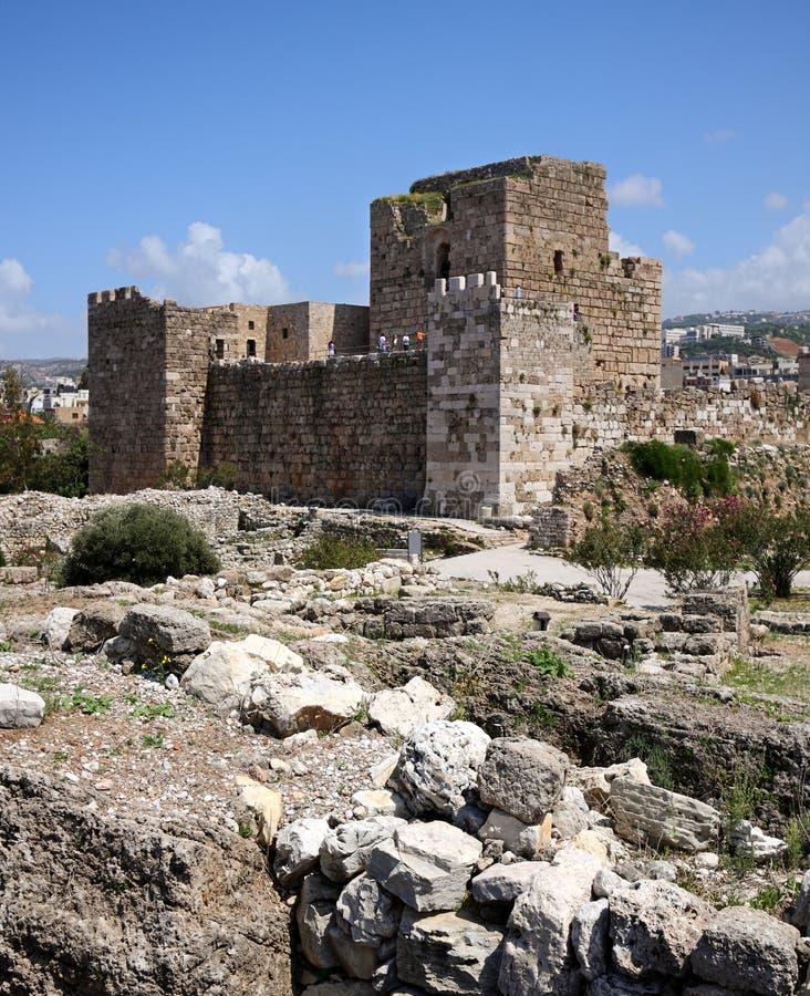 Byblos Crusader Castle, Lebanon royalty free stock photography