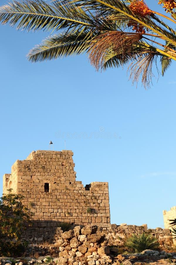 Byblos Crusader Castle, Lebanon Royalty Free Stock Images