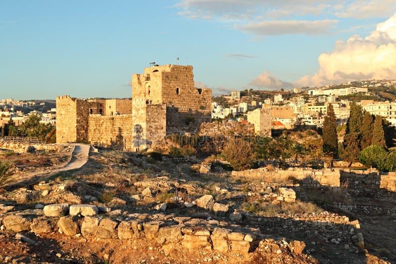 Download Byblos Crusader Castle At Sunset, Lebanon Stock Image - Image: 27938365