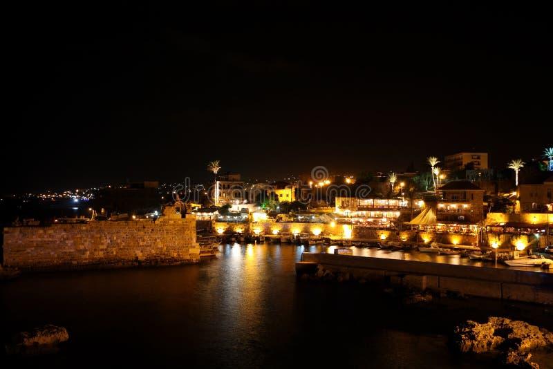 Byblos en la noche (Líbano) imagen de archivo libre de regalías