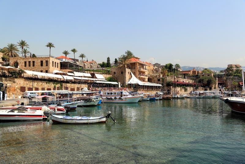 Byblos Harbor, Lebanon royalty free stock image