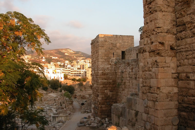 Byblos (jbeil) in Beirut. royalty free stock photos
