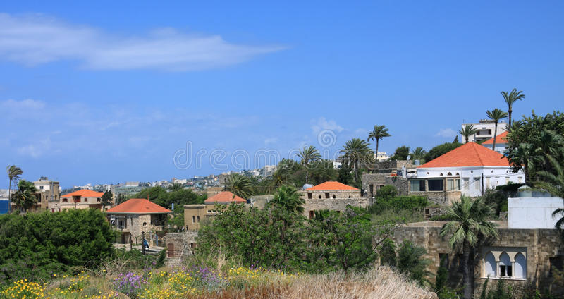 Byblos, Lebanon. The historical town of byblos on the Lebanese coast royalty free stock photo