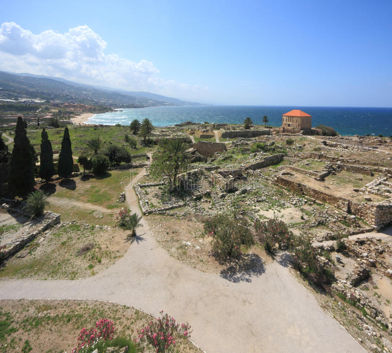 Byblos, Libanon royalty-vrije stock foto