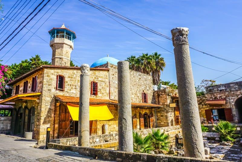 Byblos Sultan Abdul Majid Mosque arkivbilder
