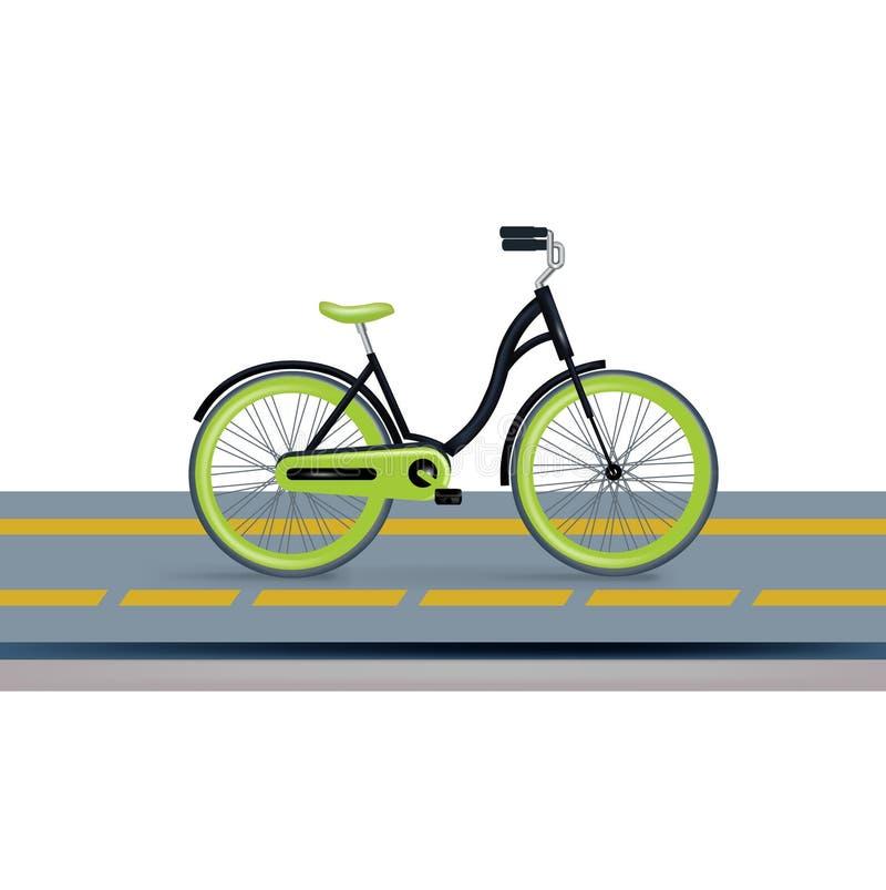 Bycicle e pista do bycicle isolada ilustração do vetor