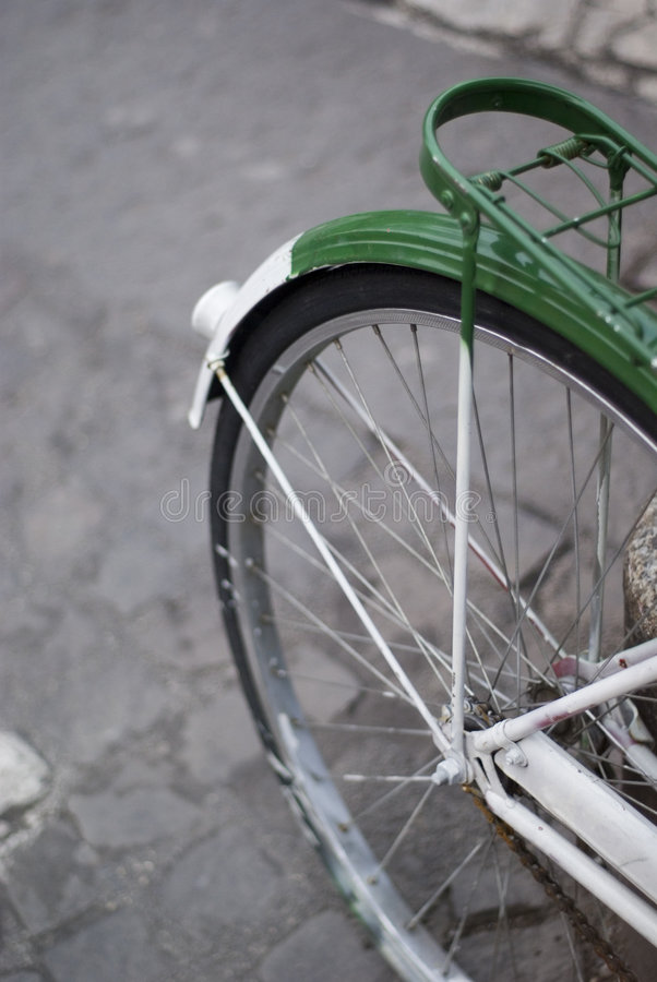 Bycicle's details stock photography
