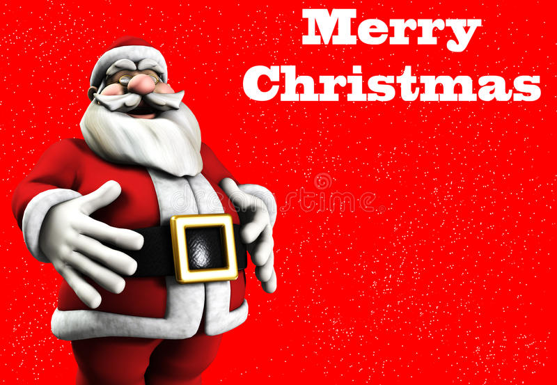 Download Byczy Santa ilustracji. Obraz złożonej z christmas, sadło - 17329525
