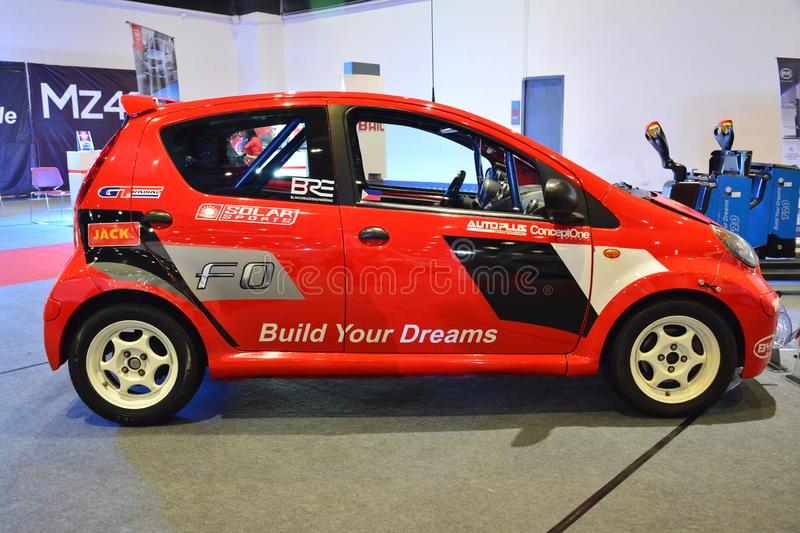 BYD F0 compact car. PASAY, PH - AUG. 17: BYD F0 compact car on August 17, 2018 at Transport and Logistics in World Trade Center Metro Manila, Pasay, Philippines stock photography