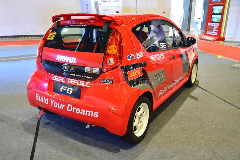 BYD F0 compact car. PASAY, PH - AUG. 17: BYD F0 compact car on August 17, 2018 at Transport and Logistics in World Trade Center Metro Manila, Pasay, Philippines stock photos