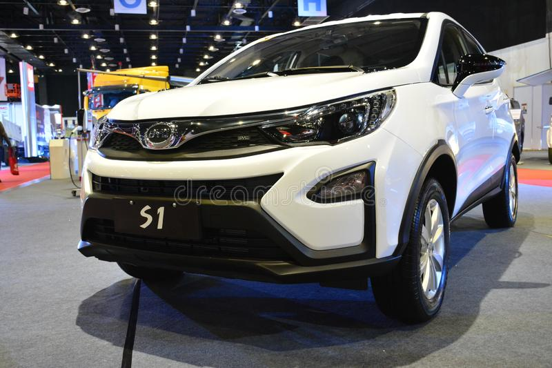 BYD S1 sports utility vehicle. PASAY, PH - AUG. 17: BYD on August 17, 2018 at Transport and Logistics in World Trade Center Metro Manila, Pasay, Philippines stock photography