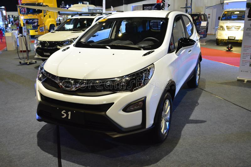BYD S1 sports utility vehicle. PASAY, PH - AUG. 17: BYD on August 17, 2018 at Transport and Logistics in World Trade Center Metro Manila, Pasay, Philippines stock photos