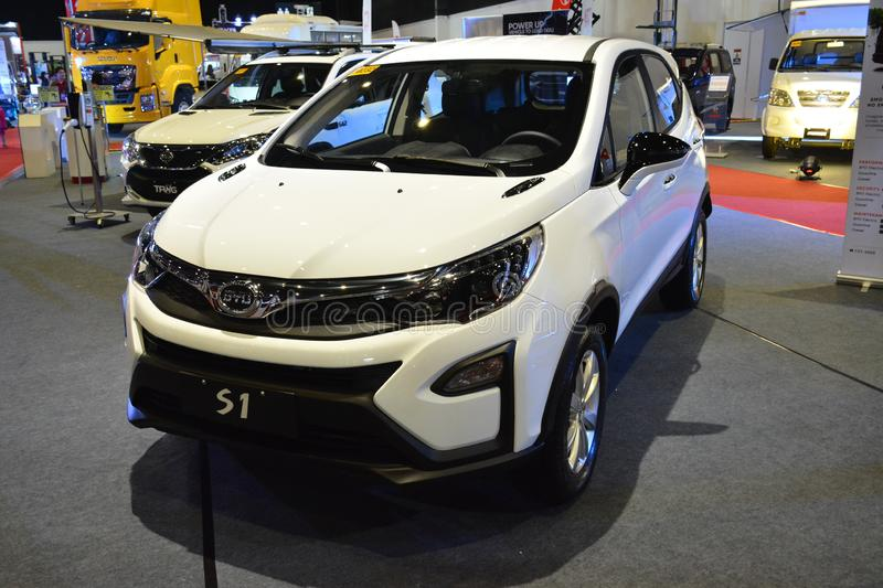 BYD S1 sports utility vehicle. PASAY, PH - AUG. 17: BYD on August 17, 2018 at Transport and Logistics in World Trade Center Metro Manila, Pasay, Philippines royalty free stock images