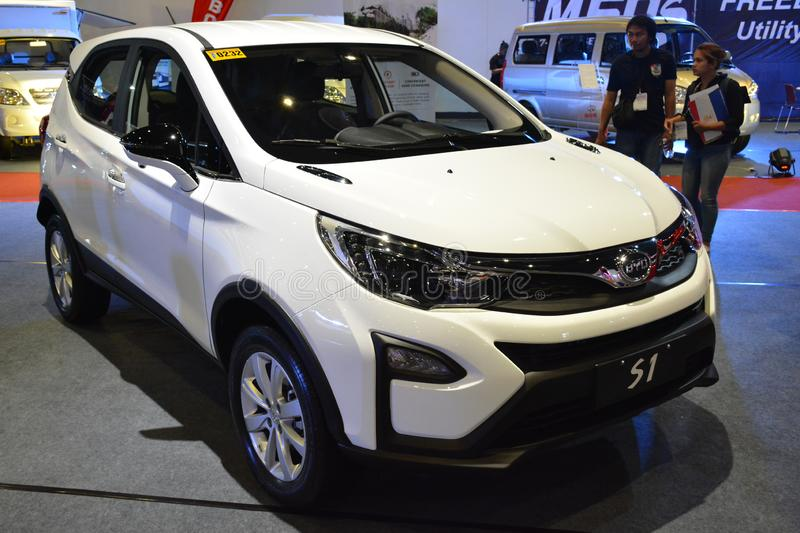 BYD S1 sports utility vehicle. PASAY, PH - AUG. 17: BYD on August 17, 2018 at Transport and Logistics in World Trade Center Metro Manila, Pasay, Philippines royalty free stock photos