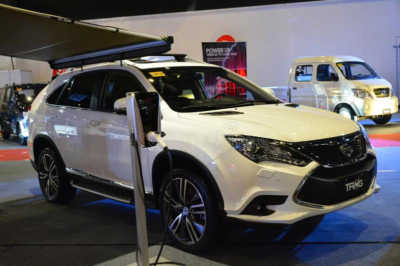 BYD Tang sports utility vehicle. PASAY, PH - AUG. 17: BYD Tang sports utility vehicle on August 17, 2018 at Transport and Logistics in World Trade Center Metro stock photography
