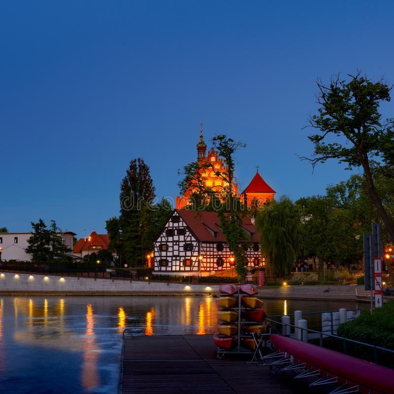 Free Bydgoszcz St. Martin Cathedral And Mill Island Stock Images - 117628444