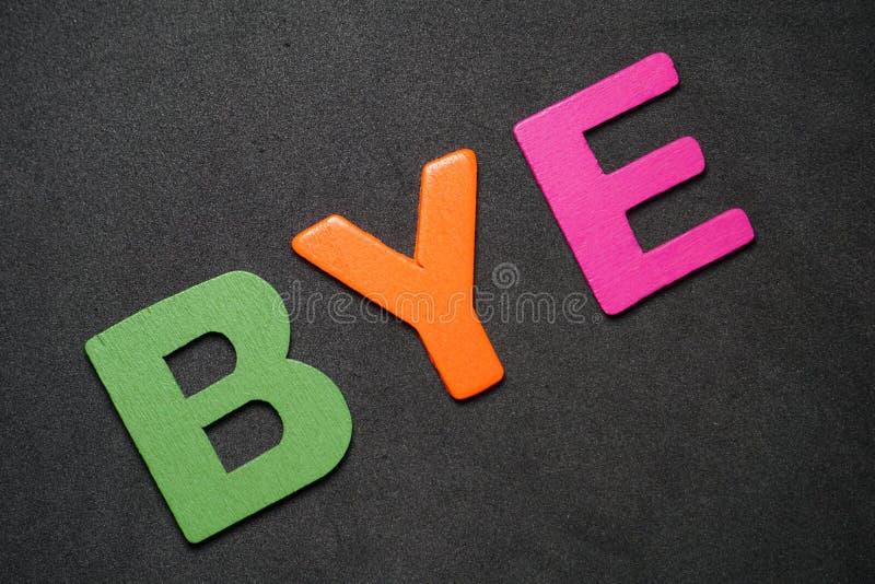 bye стоковая фотография rf