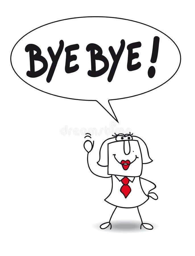 Bye vector illustration