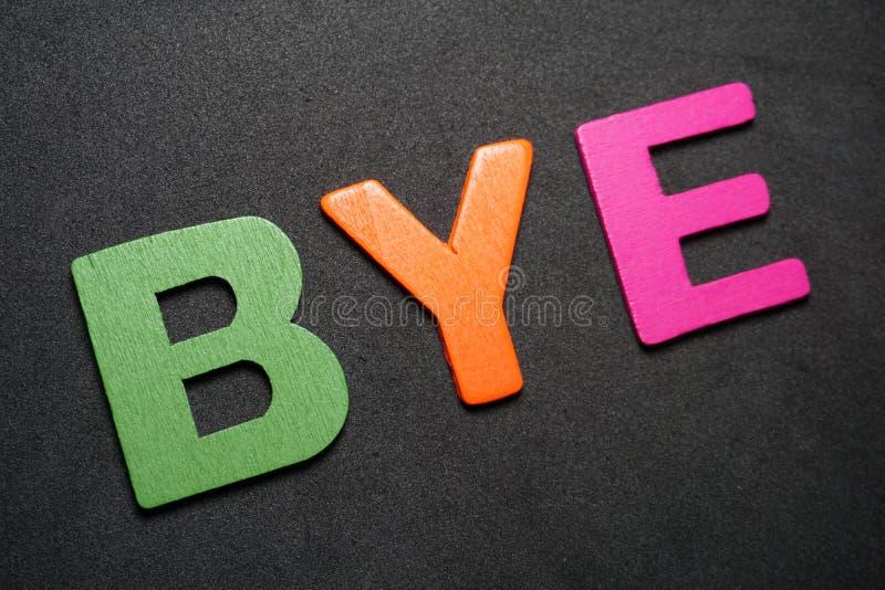 bye stock foto's