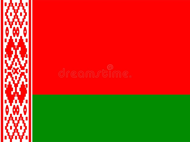 Download Byelorussia flag stock illustration. Image of isolated - 7486124
