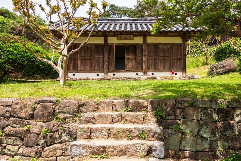 Traditional house inside the korean Byeongsan Seowon Confucian Academy, UNESCO World Heritage. Andong, South Korea, Asia. Byeongsanseowon is a Confucian school stock images