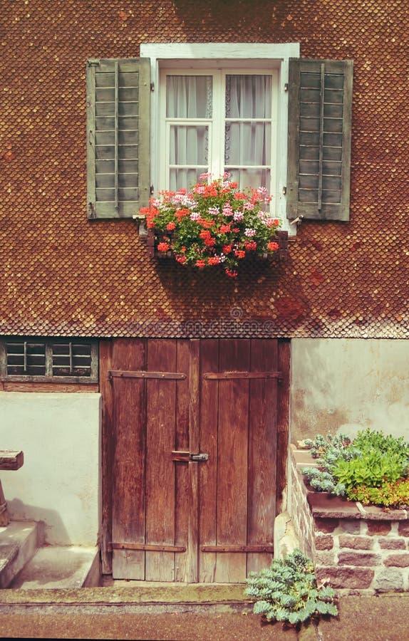 Byfönster arkivfoton