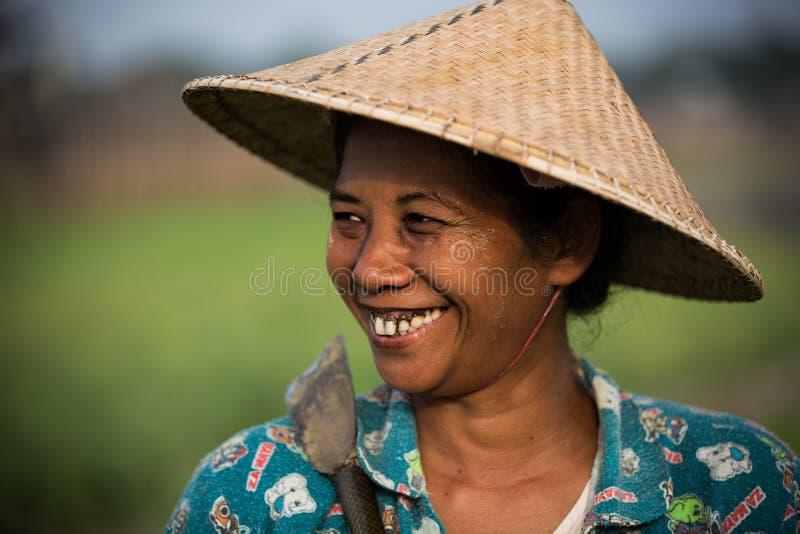 Bygd av Myanmar royaltyfri foto