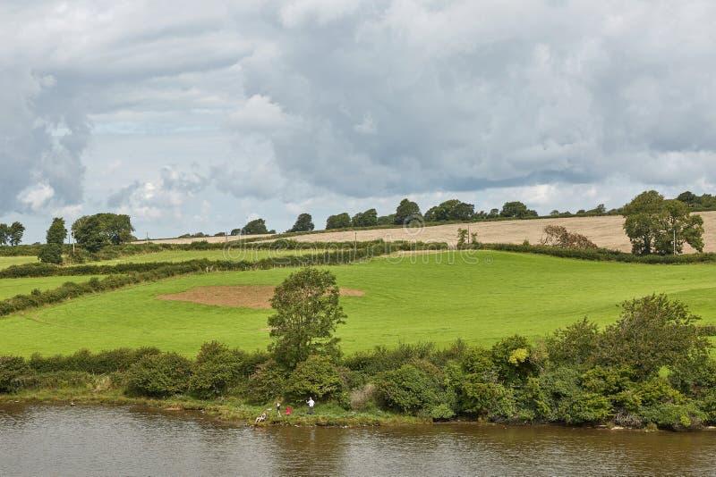 Bygd i norr Wales, England, UK arkivfoto
