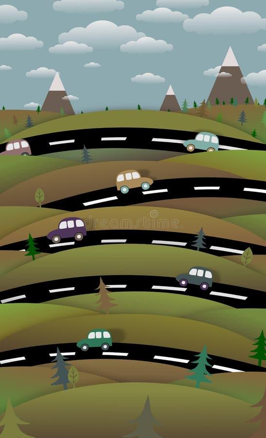 Bygdvägar vektor illustrationer