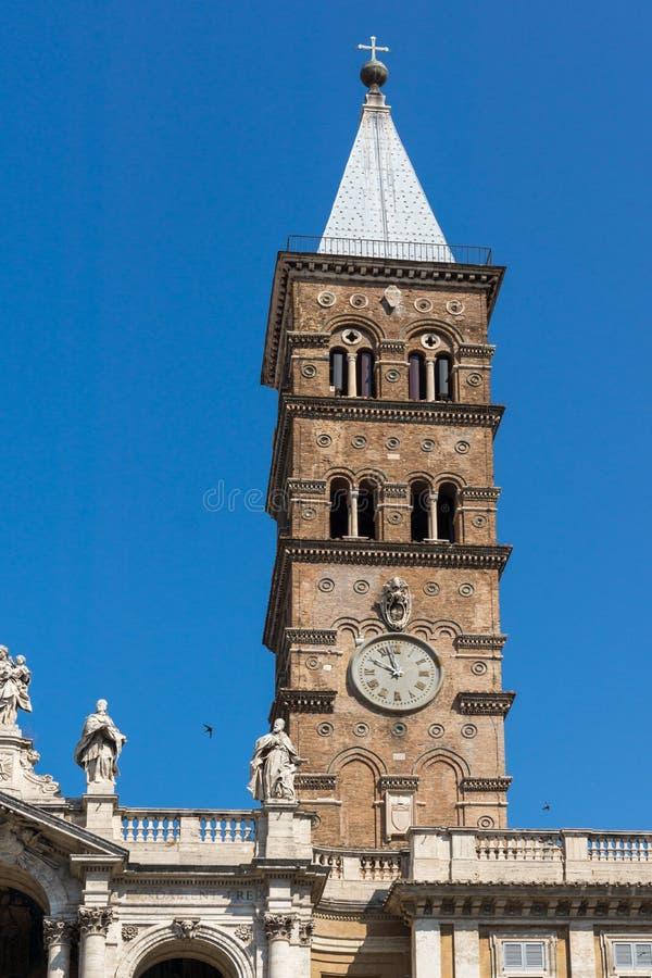 Byggande av basilikaPapale di Santa Maria Maggiore i Rome, Italien fotografering för bildbyråer