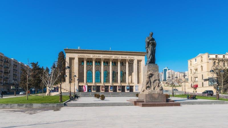 Byggande av den nationella dramateatern för tillstånd arkivbilder