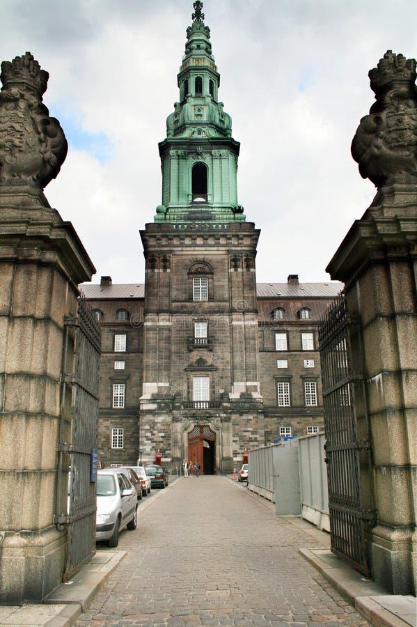 byggande dansk parlament arkivfoto