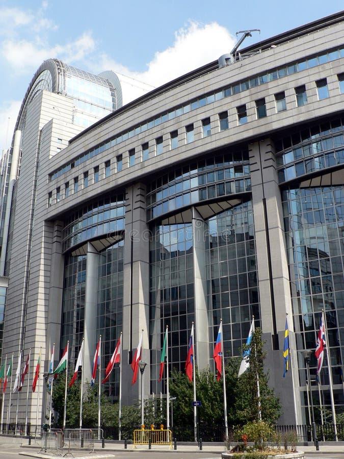 byggande europeisk parlament royaltyfria foton