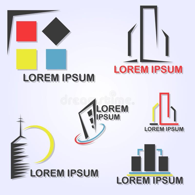 Byggande färg vektor illustrationer