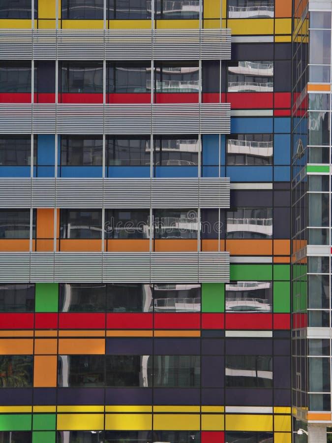 byggande färgrikt kontor royaltyfri fotografi