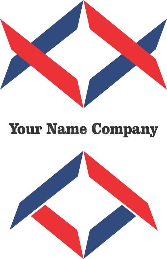 Byggande för vektor för logoer för företag för enkel design för modern affär för logokonst blått rött stock illustrationer