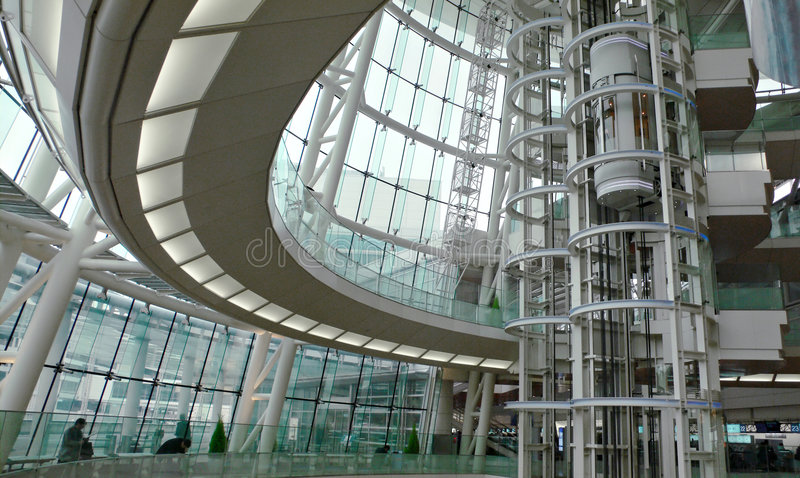 byggande futuristic inre modernt arkivfoton