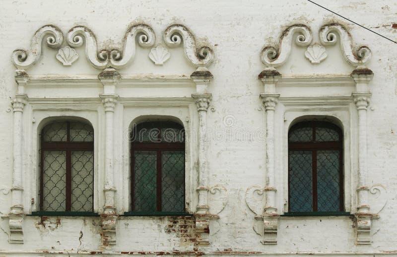 byggande gammala fönster royaltyfria foton