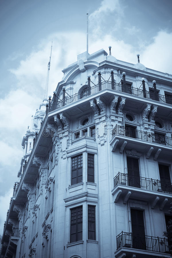 byggande gammala shanghai royaltyfria foton