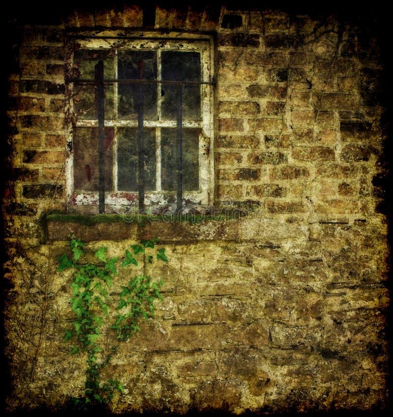 byggande gammalt fönster royaltyfria foton