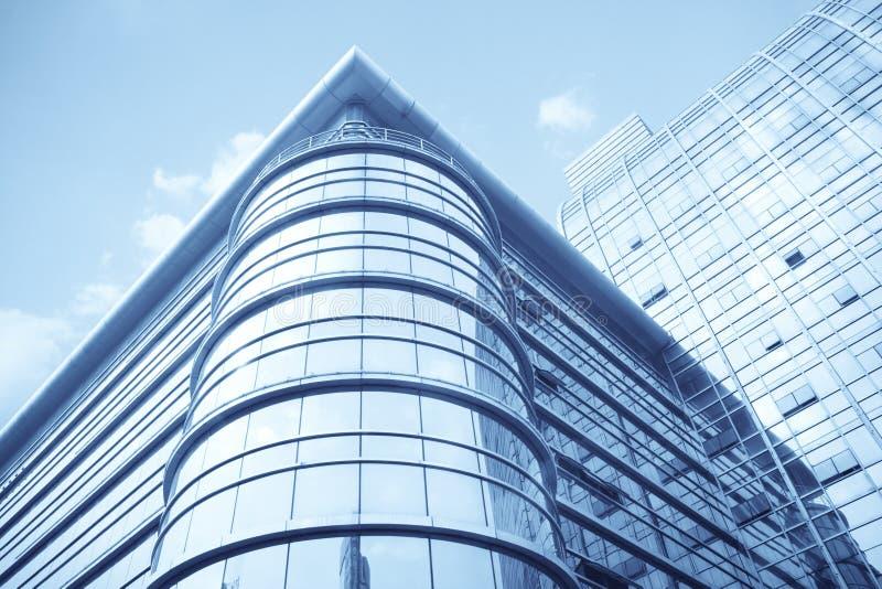 byggande glass modern vägg för gardin royaltyfri bild